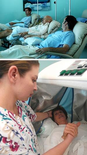 Men receiving treatment